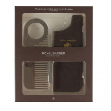 ROYAL BARBER Мужская расческа с чехлом Royal Barber для бороды