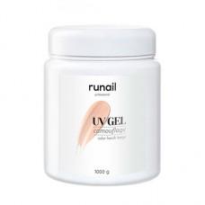 ruNail, Камуфлирующий UV-гель, французский бежевый, 1000 г
