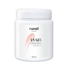 ruNail, Камуфлирующий UV-гель, розовая карамель, 1000 г