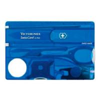 Швейцарская карточка Swisscard Lite 13 функций (полупрозрачная синяя)
