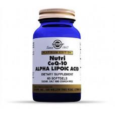 Solgar Нутрикоэнзим Q-10 с альфа-липоевой кислотой 60 капсул (Solgar, Коэнзим)
