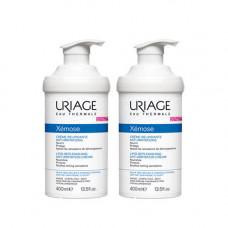 Uriage Комплект Ксемоз Крем липидовосстанавливающий, против раздражений 2 шт х 400 мл (Uriage, Xemose)