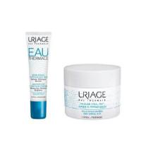Uriage Комплект Увлажняющий крем для контура глаз, 15мл+Ночная увлажняющая маска, 50мл (Uriage, Eau thermale)