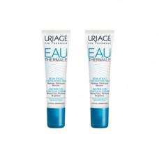 Uriage Комплект Увлажняющий крем для контура глаз Eau thermale 2 шт х 15 мл (Uriage, Eau thermale)