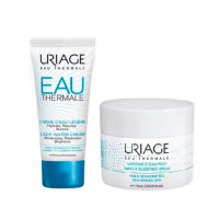 Uriage Набор для увлажнения кожи Eau thermale (Легкий увлажняющий крем, 40 мл + Ночная увлажняющая маска, 50 мл (Uriage, Eau thermale)