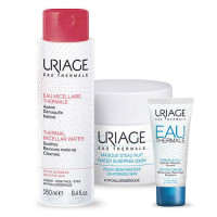Uriage Набор ОТермаль: Легкий увлажняющий крем Eau thermale 40 мл + Ночная маска + Мицеллярная вода (Uriage, Eau thermale)
