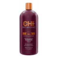 Увлажняющий шампунь для волос Deep Brilliance Olive & Monoi Optimum Moisture Shampoo: Шампунь 946мл